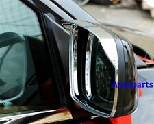 Chrome side Mirror rims frame trim Rain Visor For JEEP Grand Cherokee 2011-2017