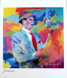Leroy NEIMAN Frank Sinatra The Singer 1994 Poster 24 x 20