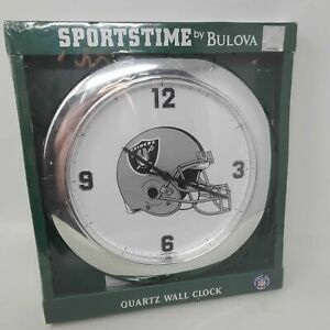 SPORTSTIME By Bulova Oakland Raiders Wall Clock Football NFL SF820 NEW