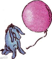 "1.5"" Disney classic pooh eeyore balloon set fabric applique iron on character"
