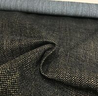 BEAUTIFUL BROWN BLACK CHENILLE UPHOLSTERY FABRIC 0.9 METRES!!
