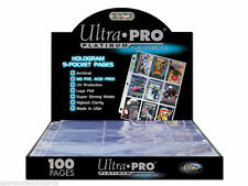 ULTRA PRO 9 POCKET PAGE SEALED BOX 100 PAGES FOR YOUR NON SPORTS & SPORTS CARDS