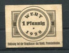 Hamburg 1 Pfennig Notgeld Verkehrsausgabe Fremdenblatt