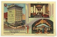Postcard San Francisco CA Hotel Oxford Market Street California Multi View 1940s