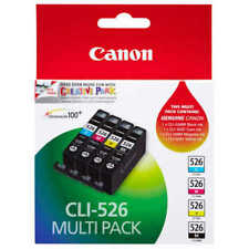 4 Genuine CANON CLI-526 CLI526 Ink Cartridges ip4950 MG8150 MG6150 ip4850 MG6250