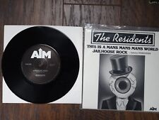 THE RESIDENTS MAN'S WORLD JAILHOUSE ROCK 45 RECORD - 6C2