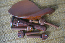 Excellent violin fittings   violin parts  4/4  hand carved old Jujube