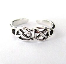 Sterling Silver Celtic double knot adjustable toe ring