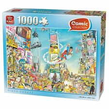 1000 Piece Comic Jigsaw Puzzle Spiderman Superman Times Square NEW YORK USA 5089