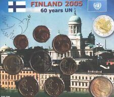 Finland Coins Set 2005 UN 1cent To 2€ + Commemorative  60y BUNC Blister
