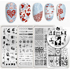 BORN PRETTY Valentines Day Nail Stamping Plates Animal Image Print Templates NEW