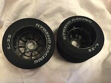 Kyosho PLAZMA REAR WHEELS AND TYRES, L-25 2pcs, NIP, - 37502