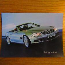 MERCEDES-BENZ R230 SL SL55 AMG V8 Kompressor Brochure Postcard c.2002-2003