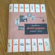 Kent Moore Ratemaker Special Service Tool Manual catalog Passenger car edition