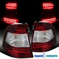 For Mercedes-Benz 1998-2005 W163 ML Class ML320 Red Clear LED Tail Brake Lights