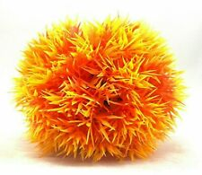 2 Pack - New Orange Artificial Plastic Aquarium Bush Ball Plant For Fish Tank