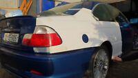 E46 BMW M3 Rear Quarter panels overfenders 30mm drift, drag, rally, track, frp