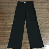 Armani Collezioni Womens Black Virgin Wool Silk Blend Career Slacks Size 2