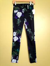 NWT J BRAND Designer Super Skinny Mid Rise Forest Floor Floral Black Jeans 24 0
