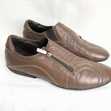 Roberto Botticelli Mens Brown Leather Zip Loafers  Italy Size 41