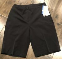 "NEW EP Pro Women's Tour Tech 20"" Golf Shorts Black Size 0 $69 NWT"