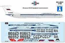 "Revaro Decal IL-62 Aeroflot ""classic"" Veb Plasticart 1/100"