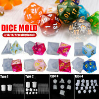 3D Silicone Dice DIY Mold Resin Jewellery Making Mould Casting Epoxy Craft Tool