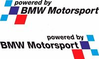 2x Powered by Bmw Motorsport 19x5cm Aufkleber Car Window Sticker Vinil Decal 213