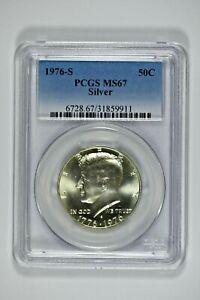 1976-S PCGS MS67 Silver Kennedy Half Dollar