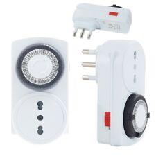 Presa Elettrica Temporizzata Timer 24 H Programmabile Clock Analogico Spine linq
