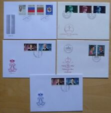 Liechtenstein Lot von 5 Briefen aus 1975-2006 - Königshausmitglieder!