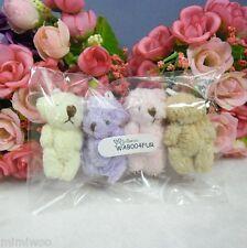 Blythe Momoko Bjd Miniature 4cm Mini Plush Velboa Soft Teddy Bear (4pcs Set)