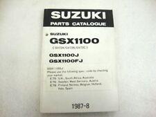 CATALOGO PARTI RICAMBIO SUZUKI GSX 1100 J FJ PARTS CATALOGUE