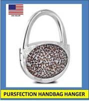 Pursfection Folding Handbag Purse Hook Hanger Leopard – Great Gift! Great $$$