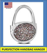 Pursfection Folding Handbag Purse Hook Hanger Leopard Great Gift