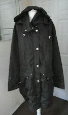WOMEN'S  Jacket Mac Shower Anorak Hooded Coat zip button drawstring waterproof