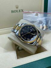 ROLEX - 36mm Men's 18kt Gold & SS DateJust Black Roman Dial - 116233 SANT BLANC