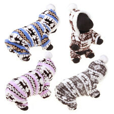 Pet Dog Jumpsuit Pajamas Hoodie Puppy Winter Warm Clothes Outfit Costume