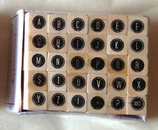 Dovecraft Mini Alphabet Rubber Stamp Set - 30 Stamps - 12 Designs to Choose From