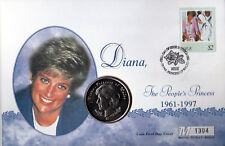 1998 Diana - Westminster NIUE The People's Princess Memorail Coin Cover
