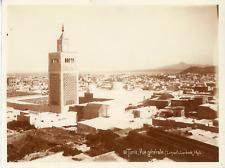 Lehnert & Landrock, Tunisie, Tunis, vue panoramique Vintage silver print, Ti