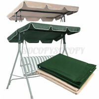 Swing Top Canopy Cover Waterproof 2 3 Seater Garden Yard Seat Replacement Roof