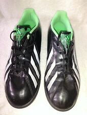 MEN'S ADIDAS F5 SOCCER SHOES SIZE 7 BLACK AND GREEN SOFT CLEATS LACE UP IN VGUC