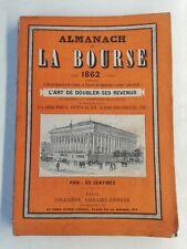 Ancien Livre Almanach de la bourse Paris 1862 Paris collignon librairie