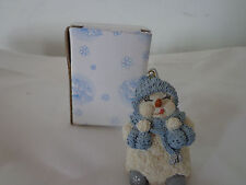 Enesco SNOW BUDDIES 94485 Female Snowman w/ Ice Cream Cones New In Box