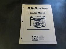 Multiquip GA-Series 60 Cycle Portable Generators Service Manual