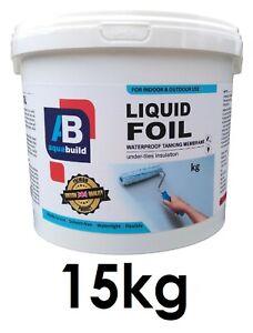 15kg Waterproof Tanking Membrane Aqua Build Liquid Foil Shower Wet Room System