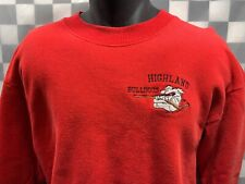 Highland BULLDOGS Hockey Embroidered Sweat Shirt Men's Size L