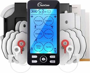 TechCare Tens Unit Plus 24 Rechargeable Electronic Pulse Massager + Belt Clip