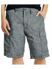 Levi's Cargo Carrier Shorts Chambray 33 x 10 Inseam 232510059 Linen Heathered